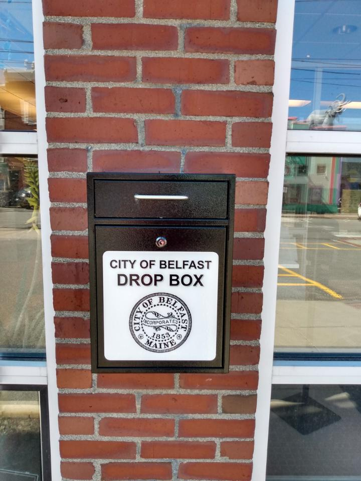 drop box for Keep the Faith Fund Located at the High Street entrance to City Hall